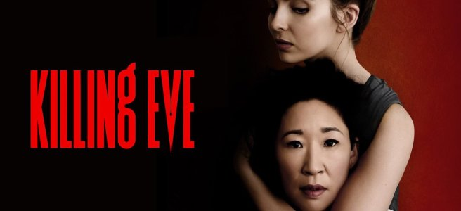 killing eve obsessed sandra oh jodie comer phoebe waller-bridge emerald fennell series 2 review julian barratt logo hd wallpaper alex moreland
