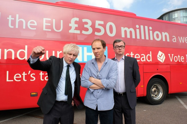 brexit uncivil war benedict cumberbatch dominic cummings boris johnson richard goulding michael gove oliver maltman nhs bus 350 million take back control james graham toby haynes channel 4 hbo