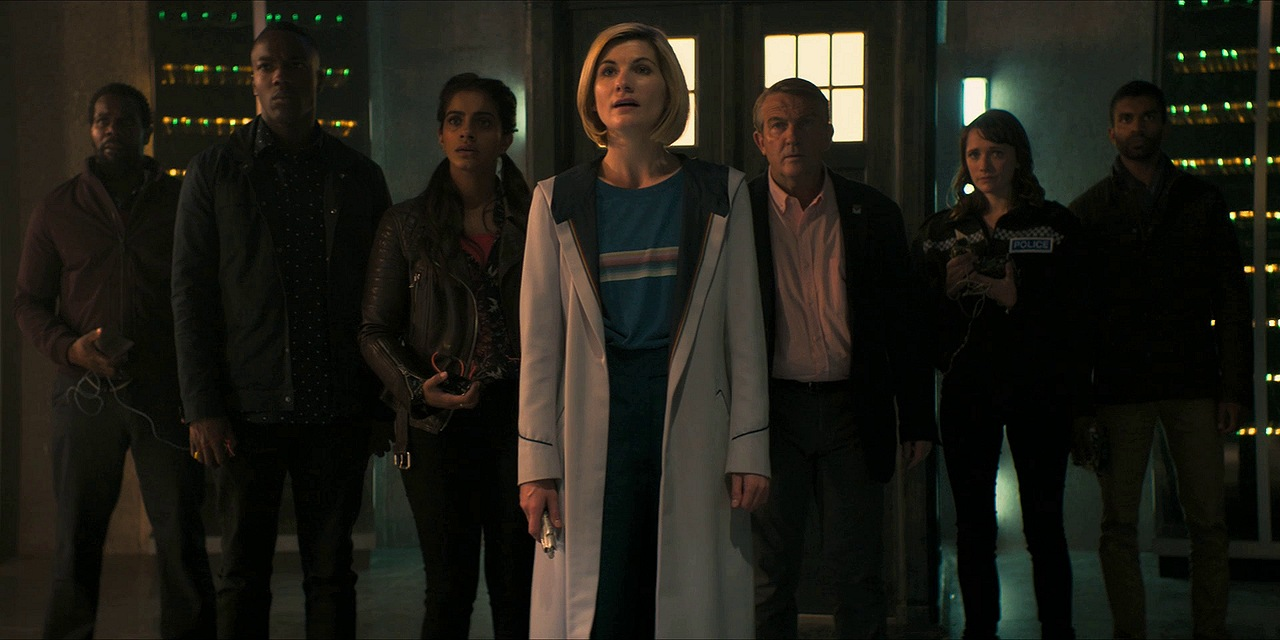 doctor who review resolution jodie whittaker bradley walsh mandip gill tosin cole dalek daniel adegboyega charlotte ritchie nikesh patel wayne yip chris chibnall gchq wifi conversation a