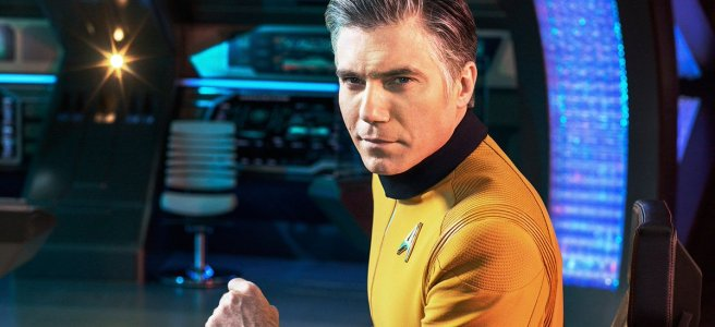 star trek discovery captain christopher pike anson mount jeffrey hunter the cage enterprise alex kurtzman michelle paradise spock ethan peck rebecca romijn number one cbs all access