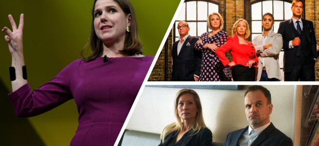weekly watchlist 2 jo swinson liberal democrat conference dragons den deborah meaden elementary season 7 lucy liu succession stath lets flats 2