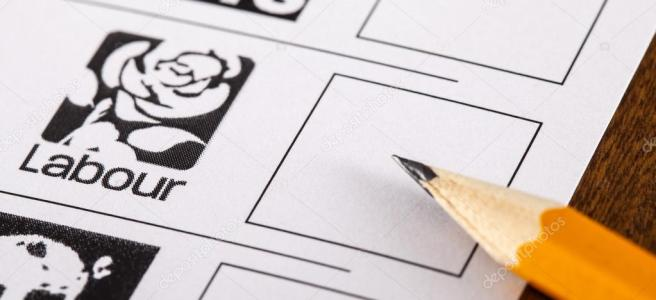 vote labour jeremy corbyn uk general election 2019 polling card ballot