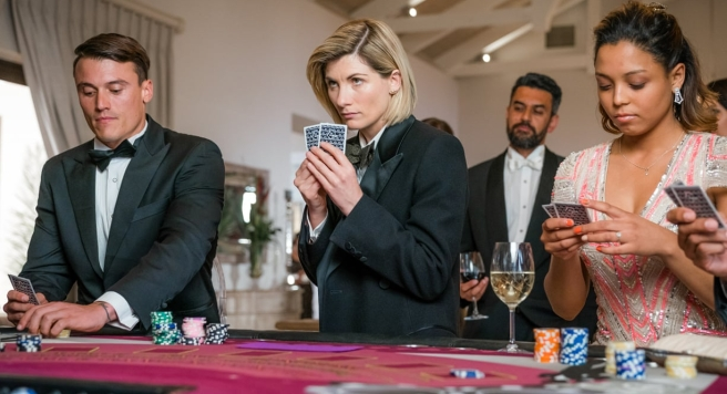 doctor who review spyfall part one jodie whittaker james bond chris chibnall wayne yip lenny henry