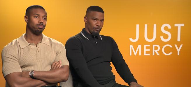 michael b jordan jamie foxx just mercy interview bryan stevenson walter macmillan destin daniel cretton