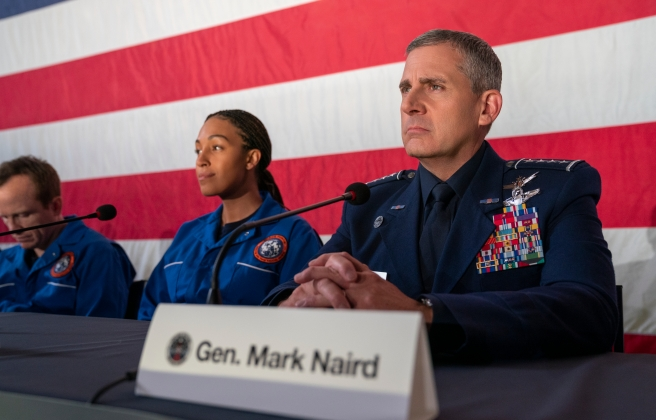 space force netflix steve carrell series 2 tawny newsome general mark r naird greg daniels office satire