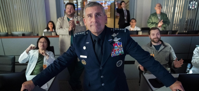 space force netflix trump tweet uniform aoc steve carrell greg daniels satire comedy series 2