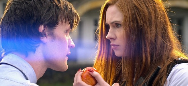doctor who eleventh hour review matt smith karen gillan apple lens flare adam smith steven moffat