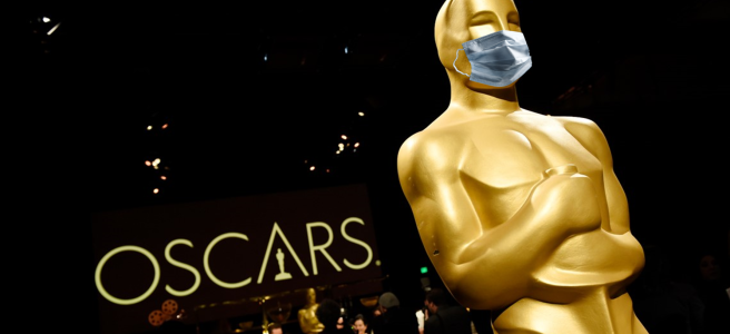 oscars 2021 predictions nomadland mank promising young woman father oscar statue mask coronavirus soderbergh